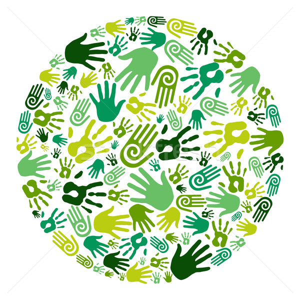 Go green hands circle Stock photo © cienpies