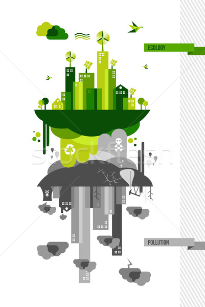 Stock photo: Green environment city concept illustration