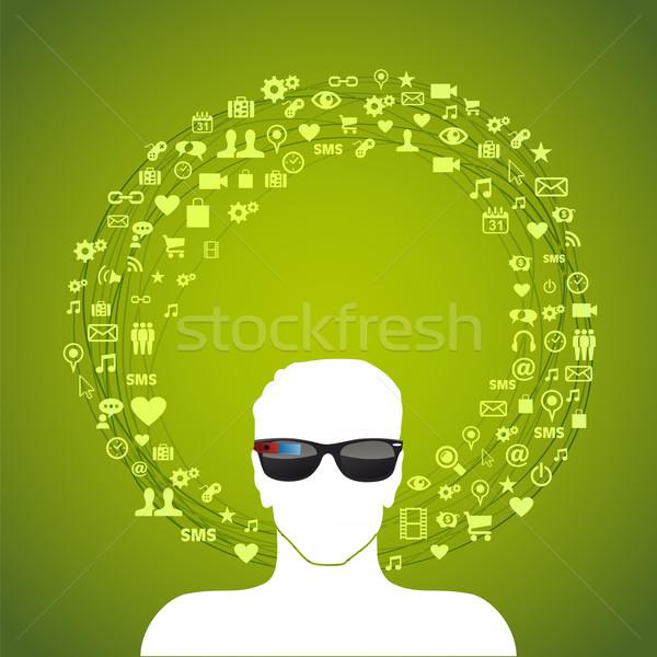 Smart glass illustration Stock photo © cienpies