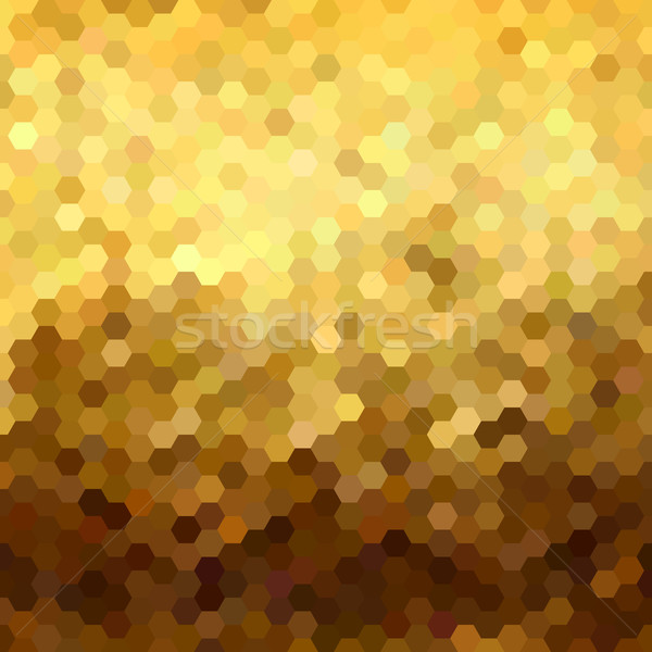Gold honeycomb seamless pattern low poly geometry Stock photo © cienpies