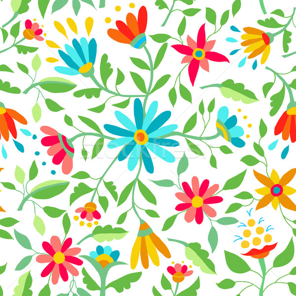 Color flower seamless pattern spring illustration Stock photo © cienpies