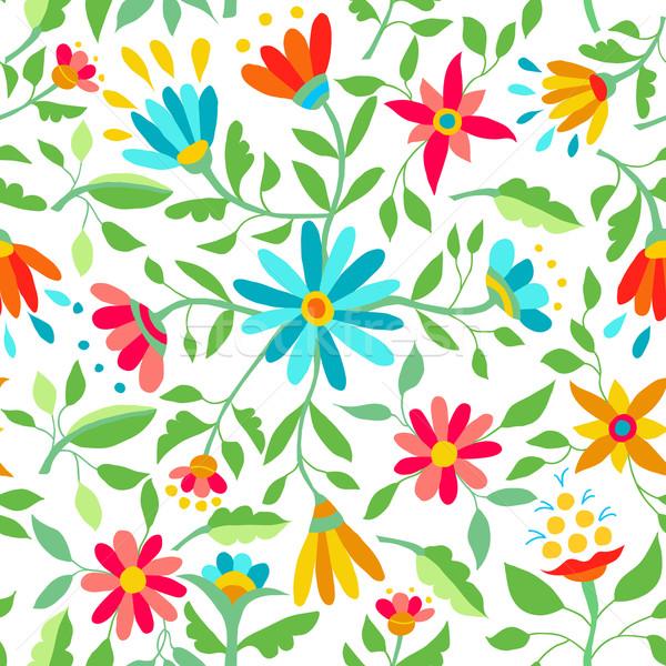 Foto stock: Cor · flor · primavera · ilustração · floral
