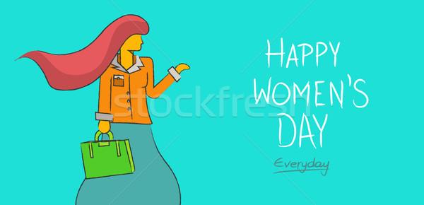 Boldog nőnap üzlet hölgy mindennapi független Stock fotó © cienpies