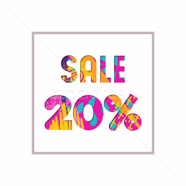 Sale 20% off color quote for business discount Stock photo © cienpies