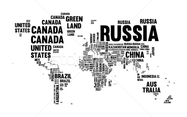 Text country name world map typography design Stock photo © cienpies