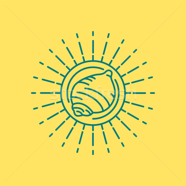 été plage mer shell icône design Photo stock © cienpies