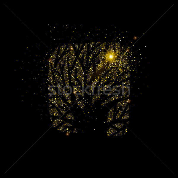 Or arbre or glitter poussière symbole Photo stock © cienpies