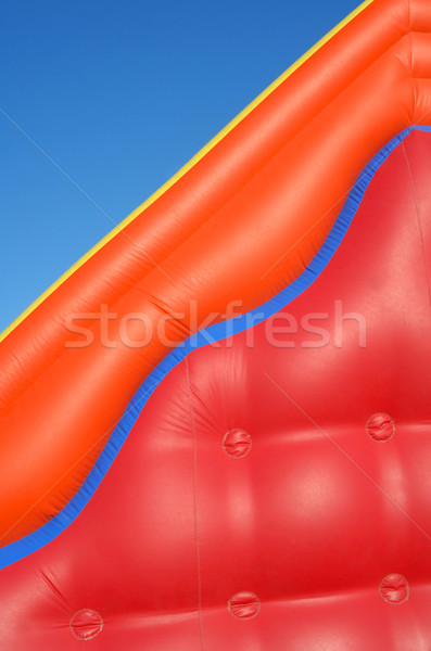 Görmek renkli şişme oyuncak mavi gökyüzü çocuklar Stok fotoğraf © cienpies