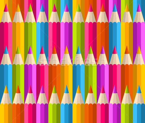 虹 鉛筆 パターン 鉛筆 ストックフォト © cienpies