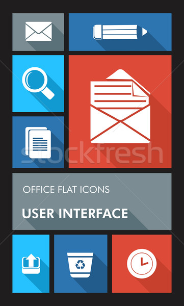 辦公室 ui 應用程序 用戶 接口 商業照片 © cienpies