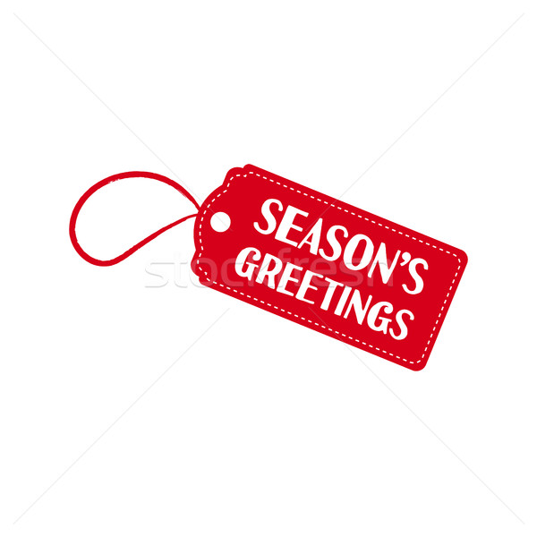 Merry Christmas sale tag quote text illustration Stock photo © cienpies