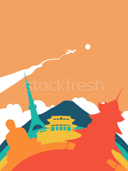 Travel Japan world landmark landscape Stock photo © cienpies