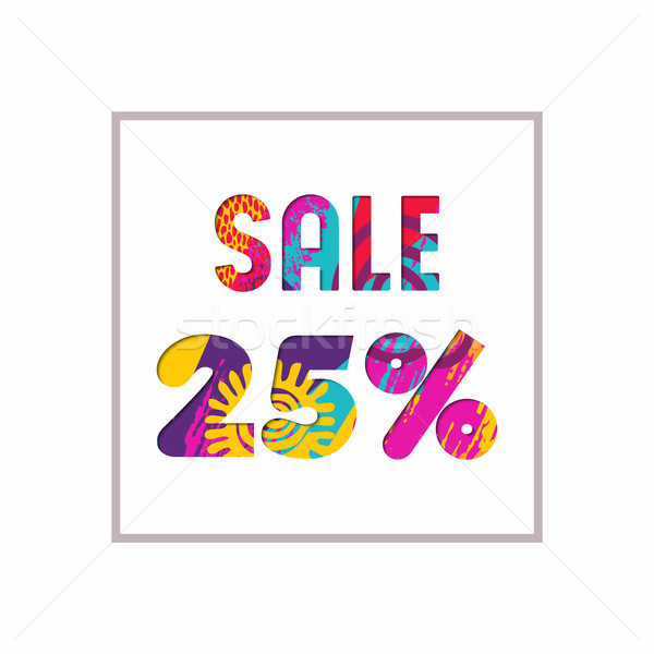 Sale 25% off color quote for business discount Stock photo © cienpies