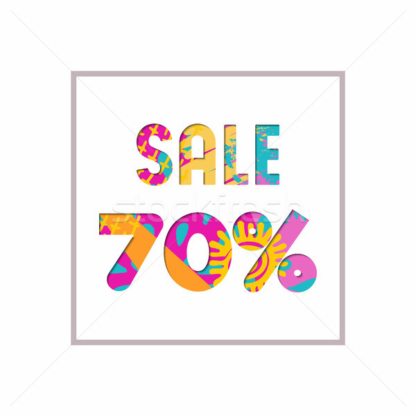 Sale 70% off color quote for business discount Stock photo © cienpies
