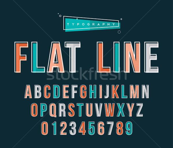 Abc text typography set in retro line art style Stock photo © cienpies