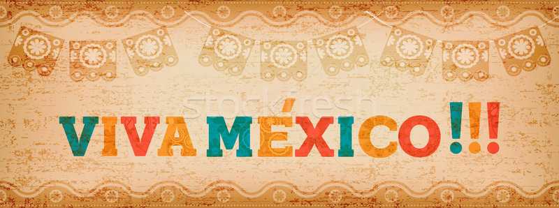 Viva mexico quote web banner for holiday event Stock photo © cienpies