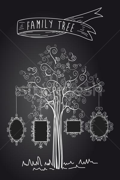 Vintage frames tree Stock photo © cienpies