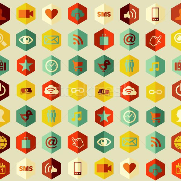 Stockfoto: Sociale · app · patroon · social · media · apps