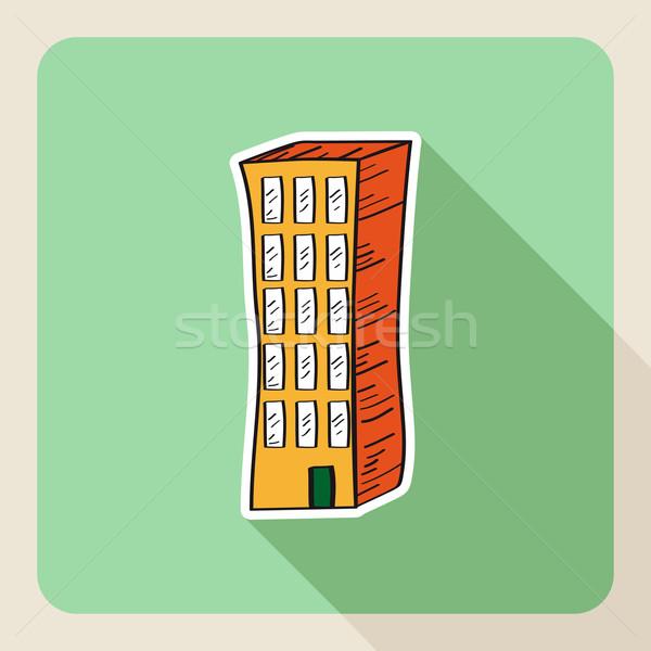 手描き 不動産 建物 スケッチ スタイル 不動産業者 ストックフォト © cienpies