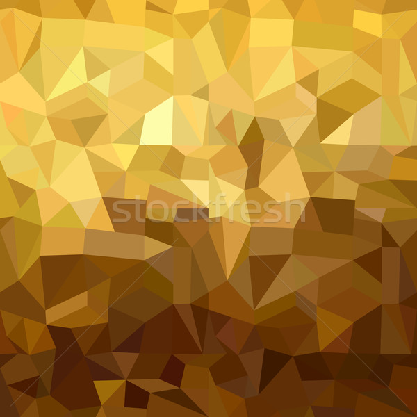 Gold pattern low poly 3d triangle geometry fancy Stock photo © cienpies