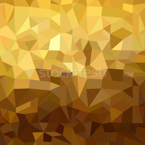金 パターン 低い 3D 三角形 幾何 ストックフォト © cienpies