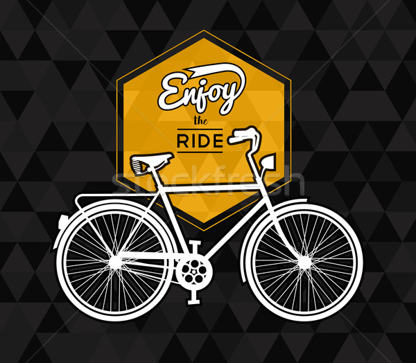 Bike concept poster bicycle low poly background Stock photo © cienpies