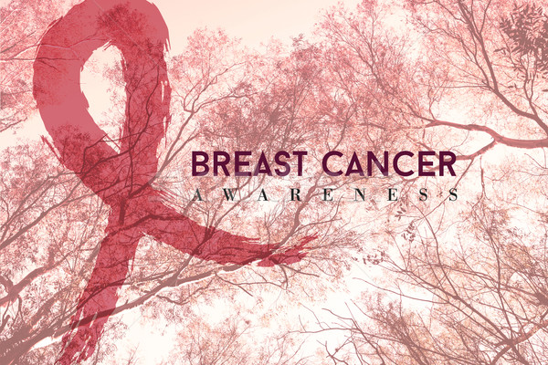Breast cancer campaign design on nature background Stock photo © cienpies