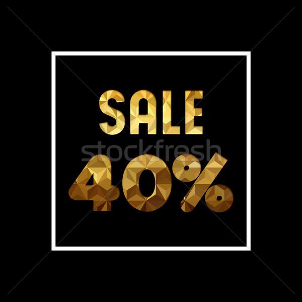 Vásár 40 el arany idézet üzlet Stock fotó © cienpies