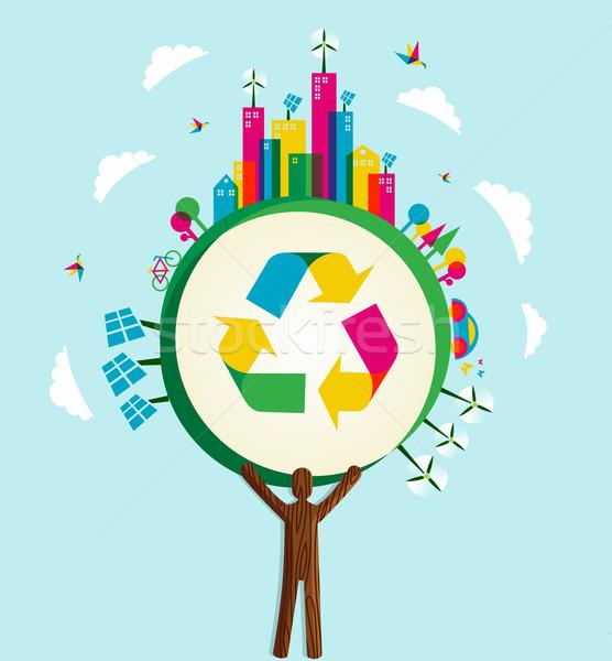 Photo stock: Vert · monde · arbre · environnement · conservation · icônes
