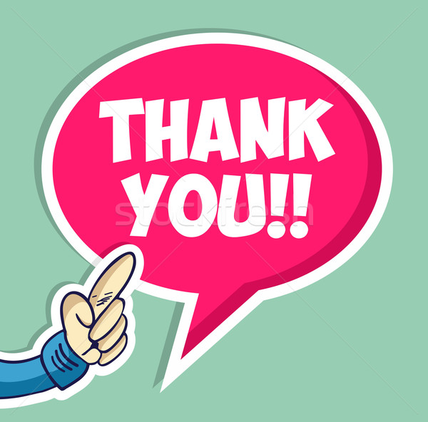 Thank you speech bubble Stock photo © cienpies