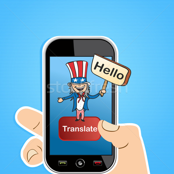 Anglais traduction app oncle homme Photo stock © cienpies