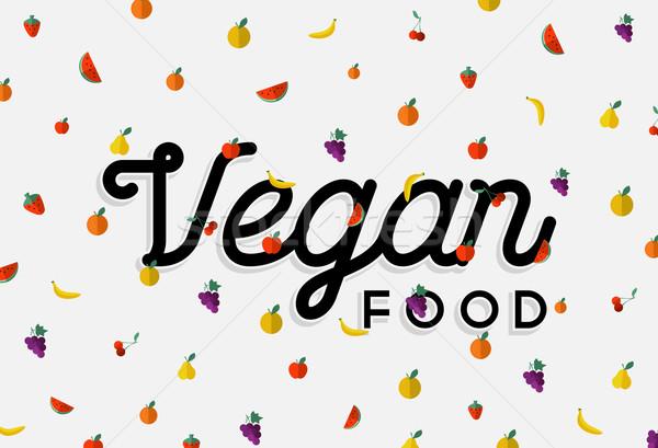 Veganistisch voedsel ontwerp kleurrijk vruchten communie Stockfoto © cienpies