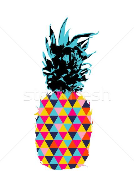 лет ананаса дизайна цвета Сток-фото © cienpies