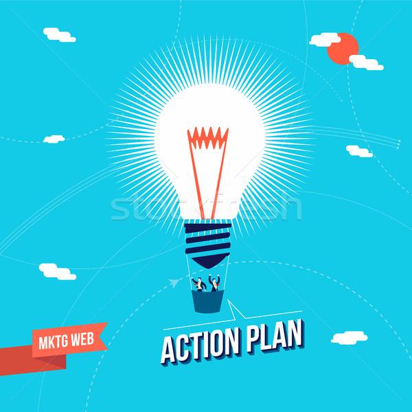 Business marketing big idea concept illustration Stock photo © cienpies
