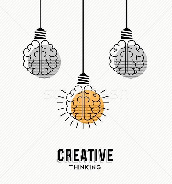創造的思考 作業 実例 現代 デザイン 人間 ストックフォト © cienpies