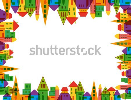 Colorful city frame Stock photo © cienpies
