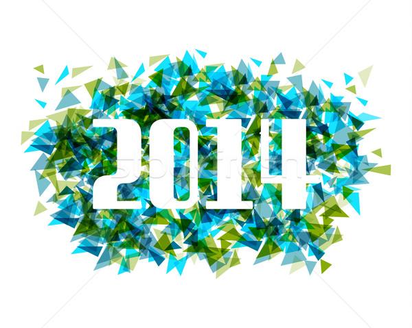 Buon anno 2014 abstract triangolo capodanno celebrazione Foto d'archivio © cienpies