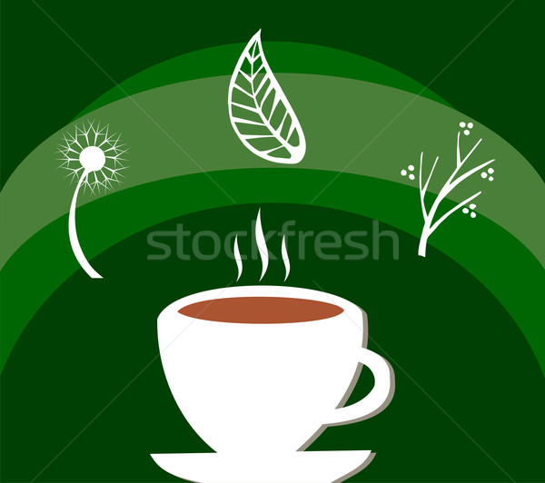 Stock photo: Herbal tea label