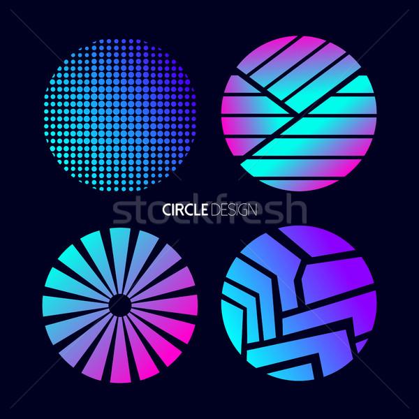 Cirkel ontwerp ingesteld abstract geometrie Stockfoto © cienpies