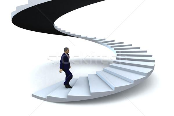 Stairway to success Stock photo © cienpies