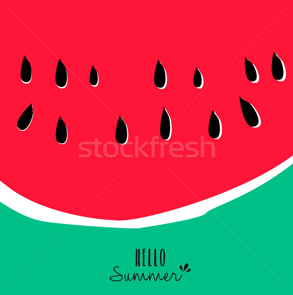 Hello summer watermelon design for vacation season Stock photo © cienpies