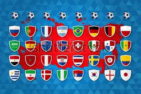 Россия Футбол события группа список шаблон Сток-фото © cienpies