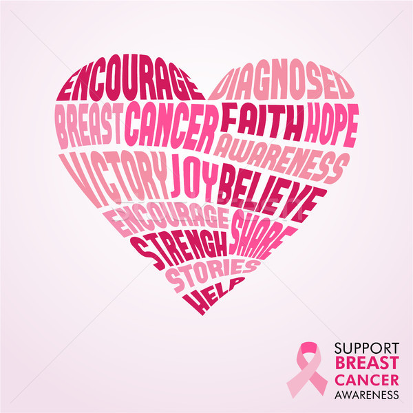 Breast Cancer Awareness Month pink love concept  Stock photo © cienpies