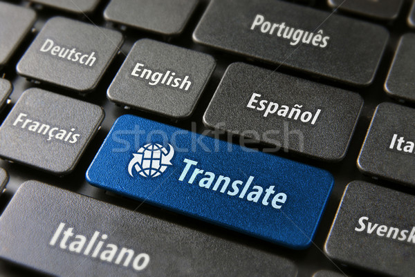 Online translation service concept Stock photo © cienpies