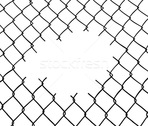 Cut wire fence Stock photo © cienpies