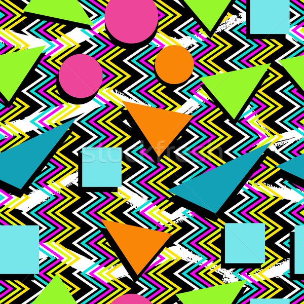 Retro 80s seamless pattern background Stock photo © cienpies