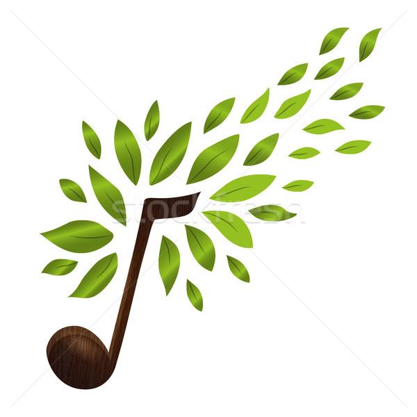 Musica nota verde natura foglie Foto d'archivio © cienpies