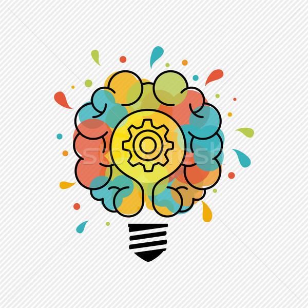 New ideas for creative thinking light bulb concept Stock photo © cienpies