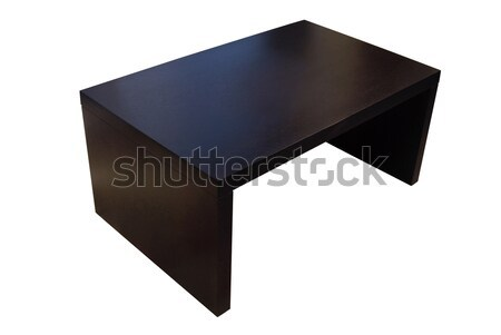 Contemporary wood coffee table isolated Stock photo © cienpies