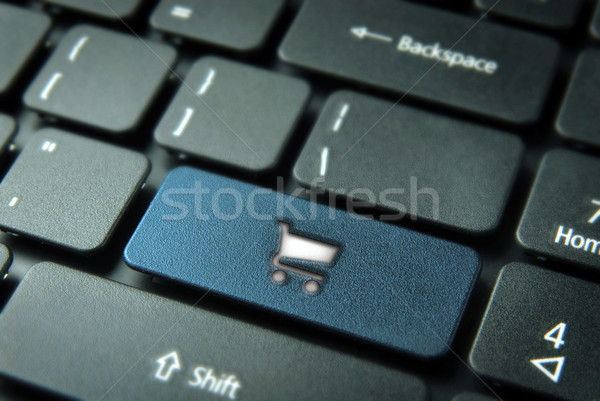 Shopping online keyboard background Stock photo © cienpies
